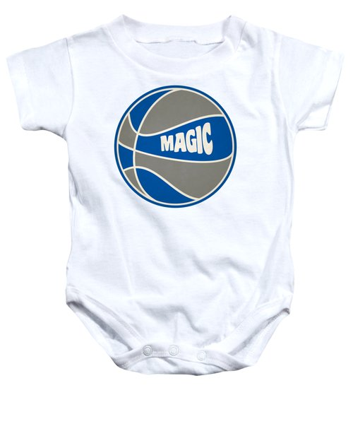 Orlando Magic Retro Shirt Baby Onesie by Joe Hamilton