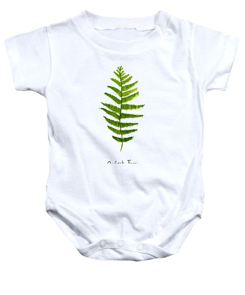 Ostrich Fern Baby Onesie by Color Color