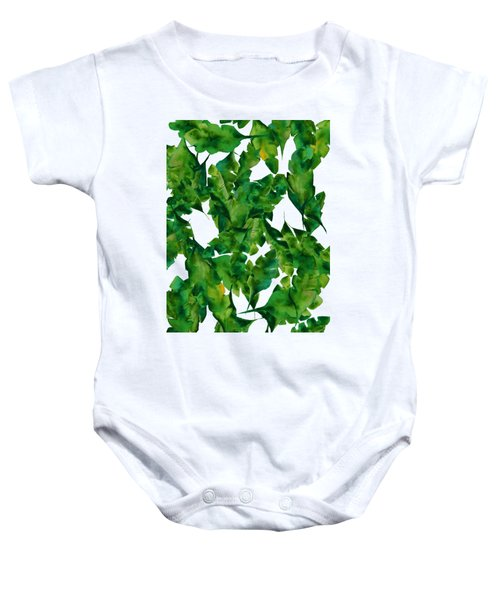 Overlapping Leaves Baby Onesie by Cortney Herron
