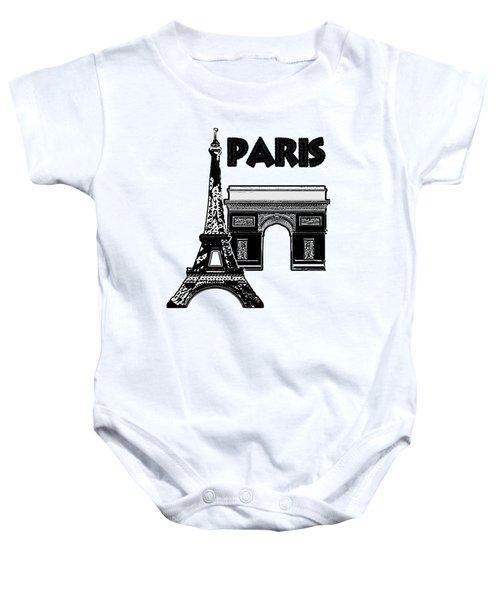 Paris Graphique Baby Onesie by Pharris Art