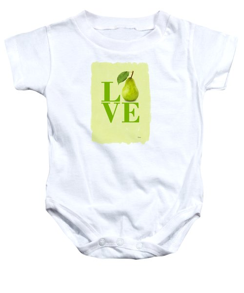 Pear Baby Onesie by Mark Rogan