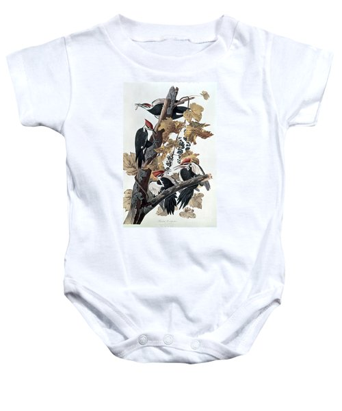 Pileated Woodpeckers Baby Onesie by John James Audubon