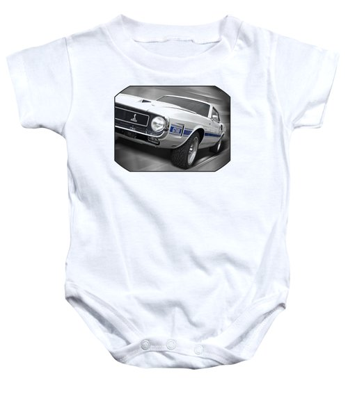 Rain Won't Spoil My Fun - 1969 Shelby Gt500 Mustang Baby Onesie by Gill Billington