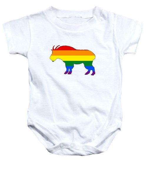 Rainbow Mountain Goat Baby Onesie by Mordax Furittus