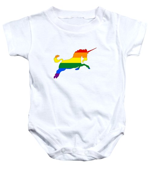 Rainbow Unicorn Baby Onesie by Mordax Furittus
