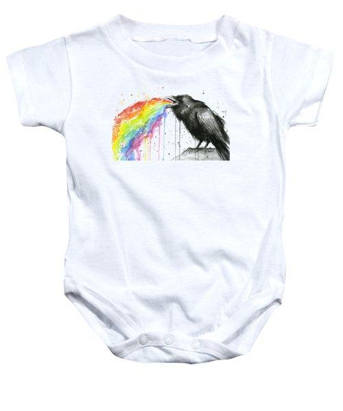Raven Tastes The Rainbow Baby Onesie by Olga Shvartsur