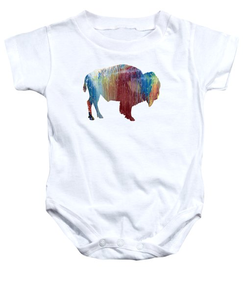 Red Bison Baby Onesie by Mordax Furittus