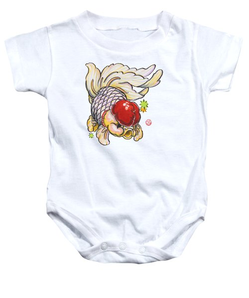 Red Cap Mixed Ranchu Baby Onesie by Shih Chang Yang