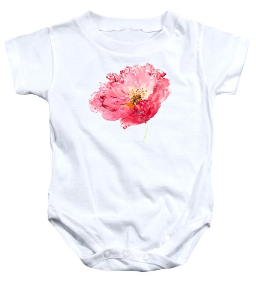 Red Poppy Painting Baby Onesie by Jan Matson