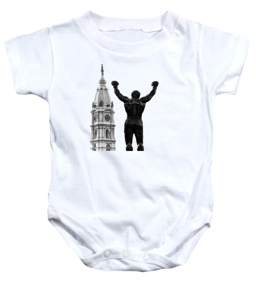 Rocky - Philly's Champ Baby Onesie by Bill Cannon