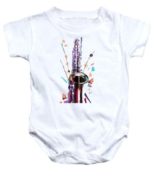 Saxophone Baby Onesie by Melanie D