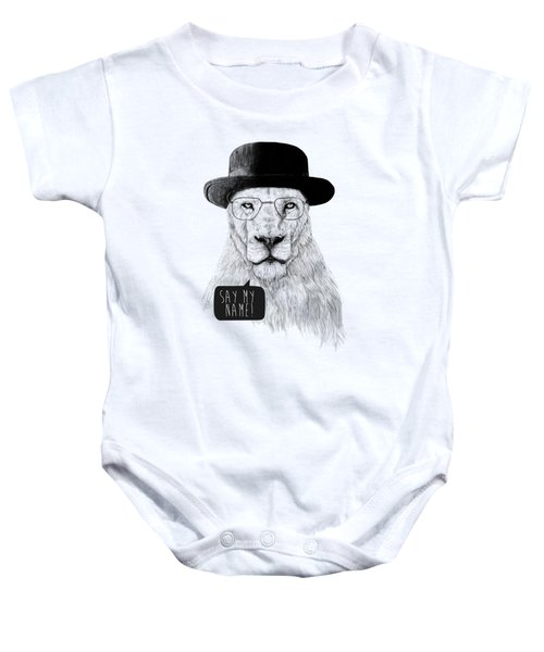 Say My Name Baby Onesie by Balazs Solti
