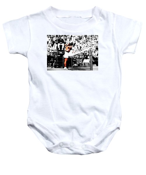 Serena Williams And Angelique Kerber 1a Baby Onesie by Brian Reaves
