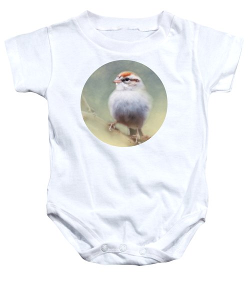 Serendipitous Sparrow  Baby Onesie by Anita Faye
