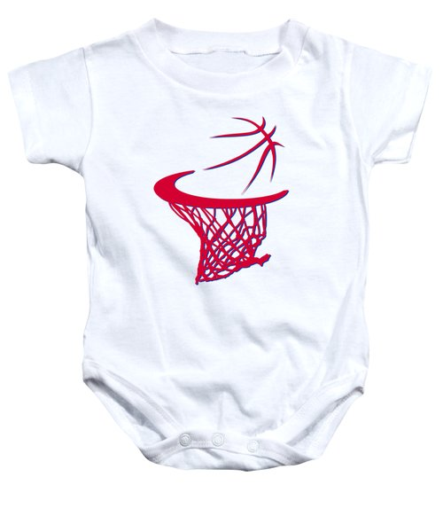 Sixers Basketball Hoop Baby Onesie by Joe Hamilton