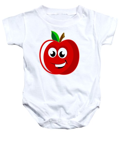 Smiley Tomato With Changeable Background  Baby Onesie by Sebastien Coell
