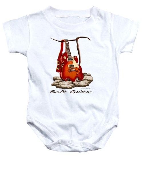 Soft Guitar - 3 Baby Onesie by Mike McGlothlen