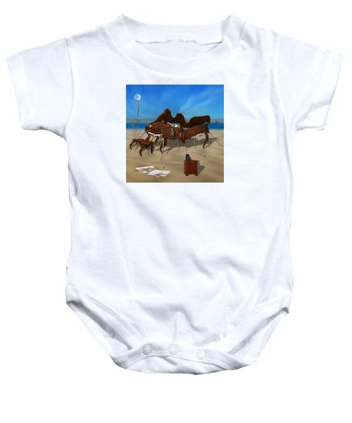 Softe Grand Piano Se Sq Baby Onesie by Mike McGlothlen