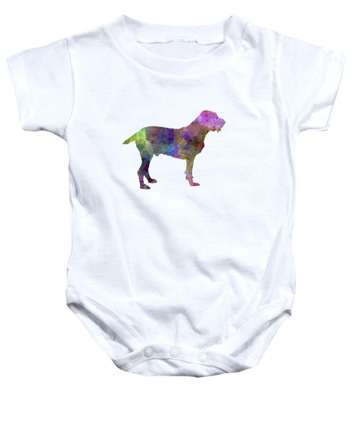 Spinone In Watercolor Baby Onesie by Pablo Romero