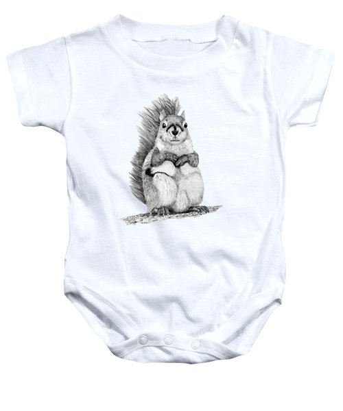 Squirrel Baby Onesie by John Stuart Webbstock