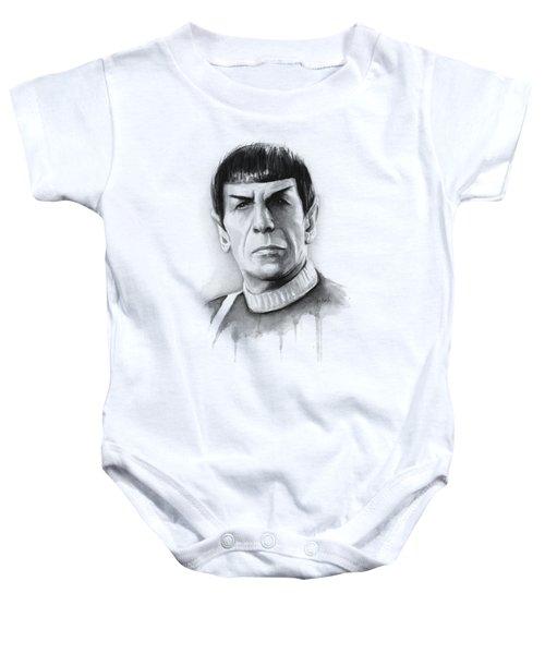 Star Trek Spock Portrait Baby Onesie by Olga Shvartsur