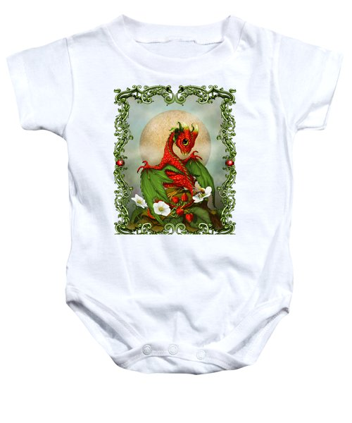 Strawberry Dragon T-shirt Baby Onesie by Stanley Morrison