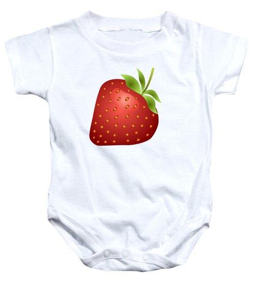 Strawberry Fruit Baby Onesie by Miroslav Nemecek