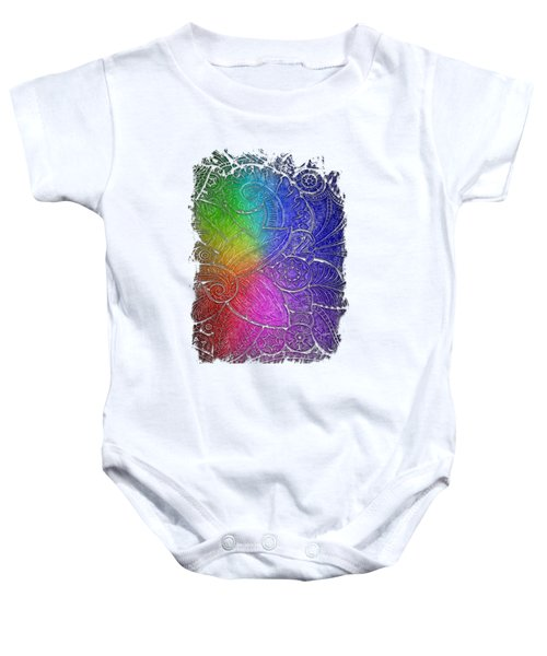 Swan Dance Cool Rainbow 3 Dimensional Baby Onesie by Di Designs