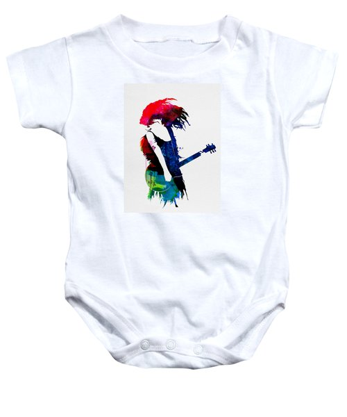Taylor Watercolor Baby Onesie by Naxart Studio