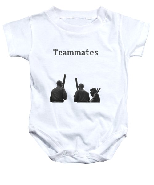 Teammates Poster - Boston Red Sox Baby Onesie by Joann Vitali