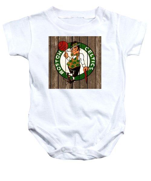 The Boston Celtics 2b Baby Onesie by Brian Reaves