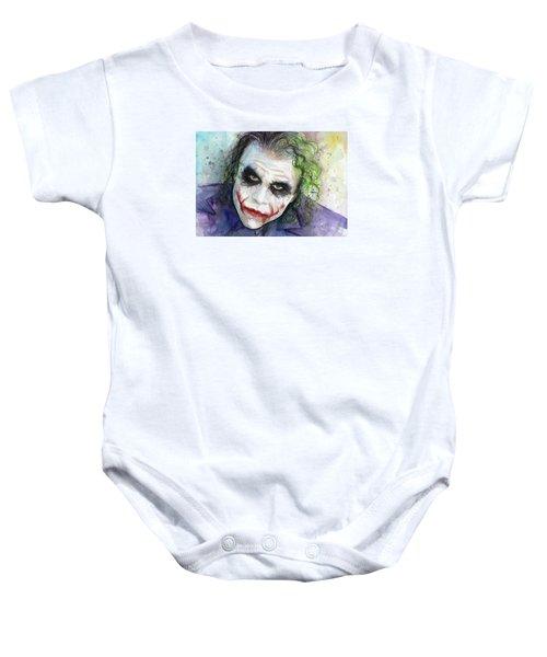 The Joker Watercolor Baby Onesie by Olga Shvartsur