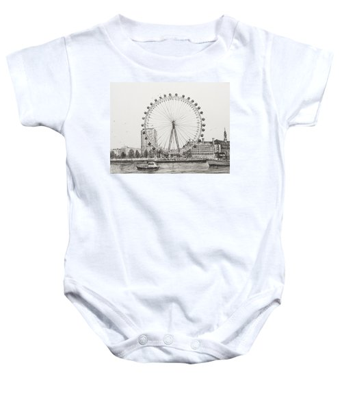 The London Eye Baby Onesie by Vincent Alexander Booth