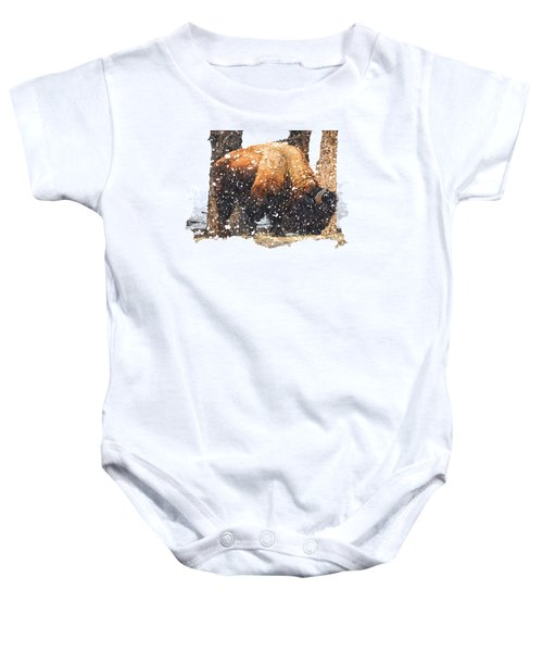 The Majestic Bison Baby Onesie by Image Takers Photography LLC - Carol Haddon