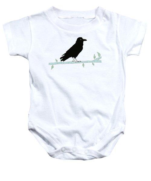 The Raven Baby Onesie by Priscilla Wolfe