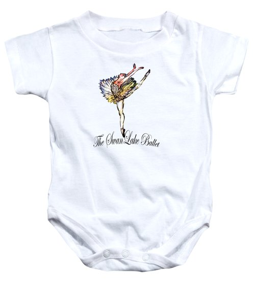 The Swan Lake Ballet Baby Onesie by Marie Loh