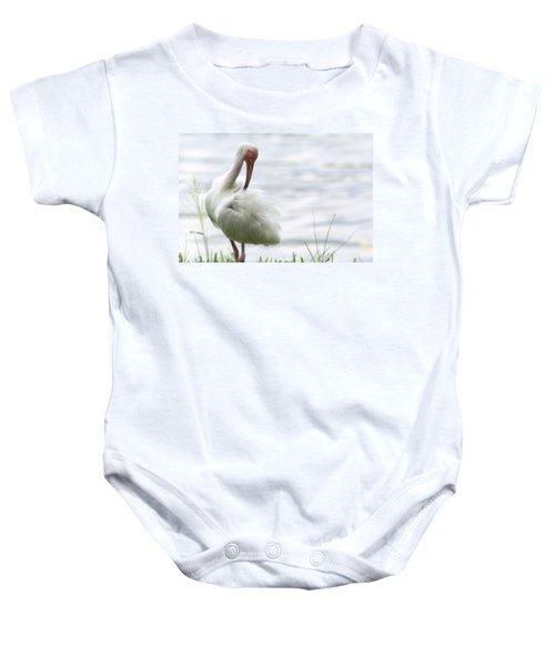 The White Ibis  Baby Onesie by Saija  Lehtonen