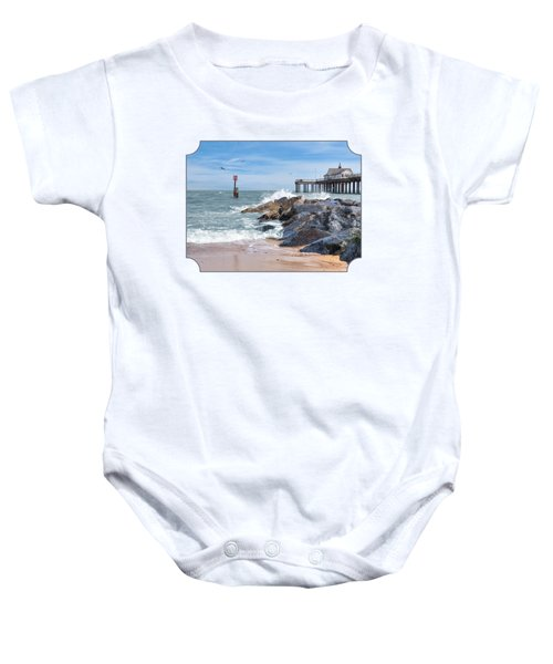Tide's Turning - Southwold Pier Baby Onesie by Gill Billington