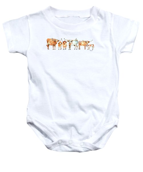 Together We Stand Watercolor Painting By Kmcelwaien Baby Onesie by Kathleen McElwaine
