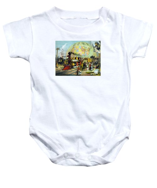 Transcontinental Railroad Baby Onesie by War Is Hell Store