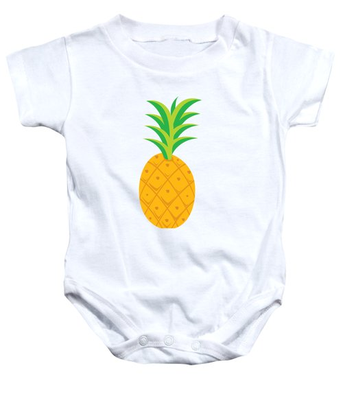 Tropical Fruits Ananas Pineapple Baby Onesie by MGdezigns
