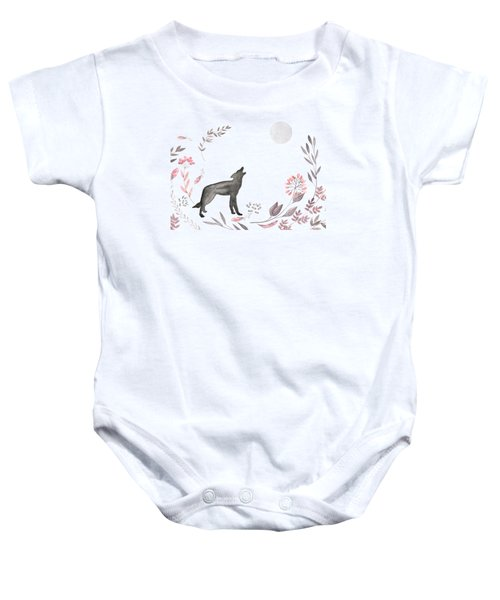 Twilight Wolf Baby Onesie by Amanda  Lakey