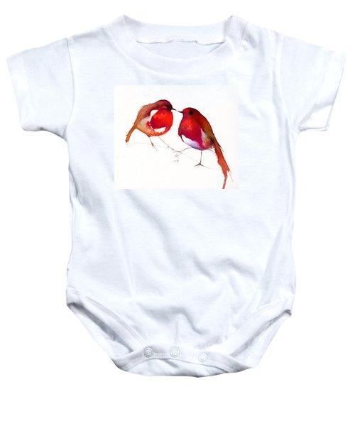 Two Little Birds Baby Onesie by Nancy Moniz