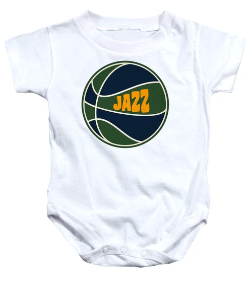 Utah Jazz Retro Shirt Baby Onesie by Joe Hamilton