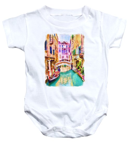 Venice Canal 2 Baby Onesie by Marian Voicu