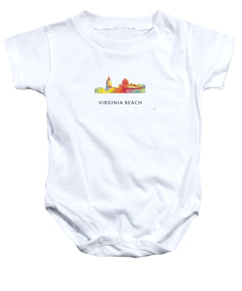 Virginia Beach  Virginia Skyline Baby Onesie by Marlene Watson