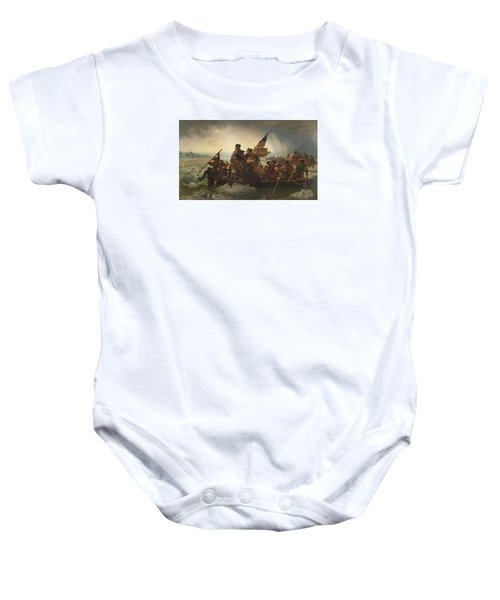 Washington Crossing The Delaware Baby Onesie by War Is Hell Store