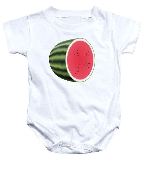 Water Melon Baby Onesie by Miroslav Nemecek