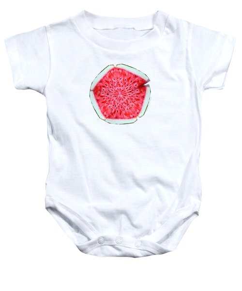 Watermelon Star Wheel Baby Onesie by Shana Rowe Jackson