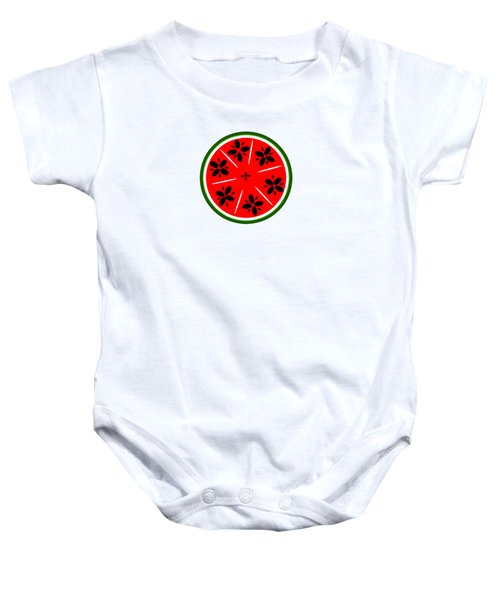 Watermelon Summer Baby Onesie by Chastity Hoff